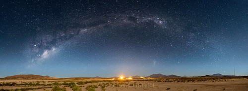 Deep in Bolivia, my first attempt at a milky way Pano - Christine Phillips
