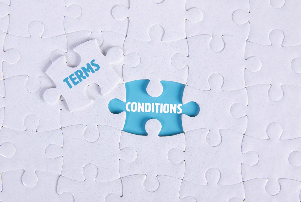 White puzzle with word Terms & Conditions