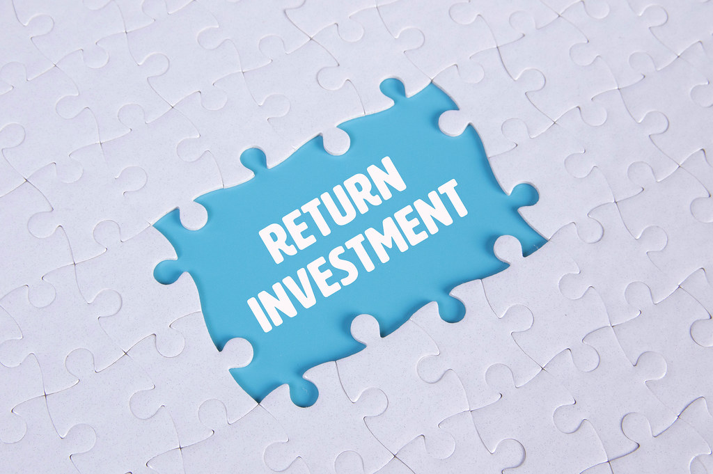 Missing puzzle pieces with Return Investment text