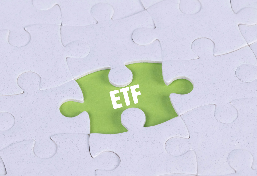 Missing puzzle piece with ETF text