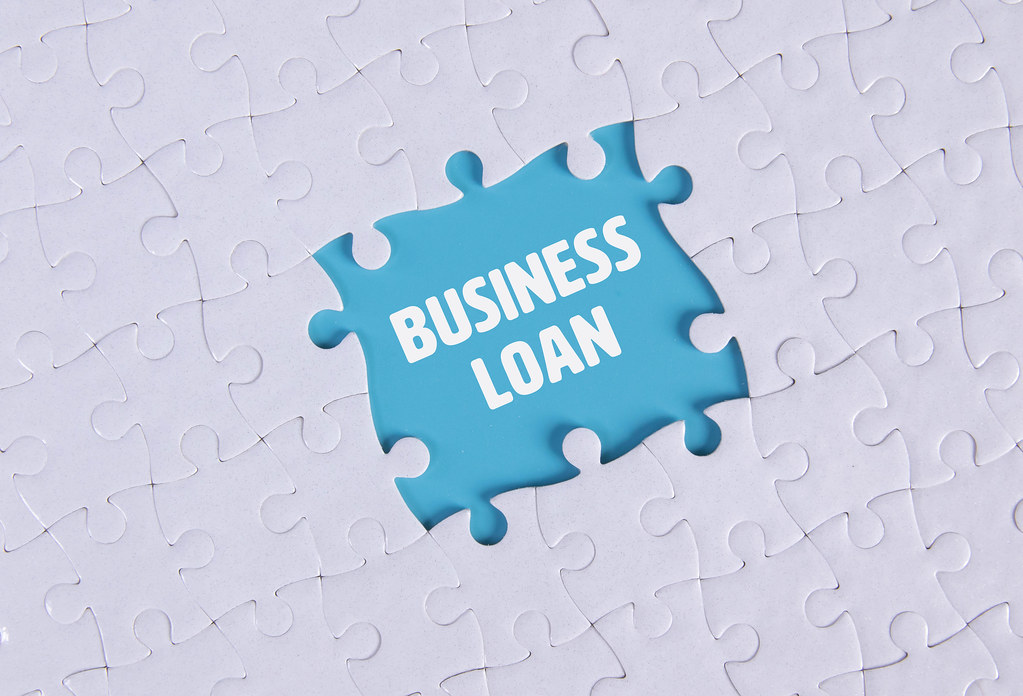 Missing puzzle pieces with Business Loan text