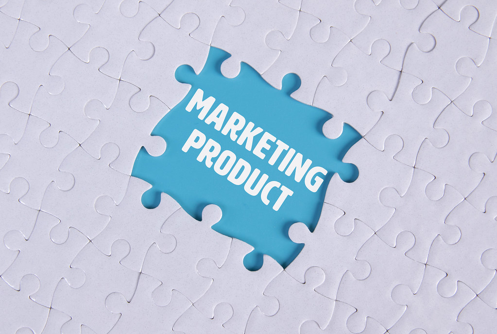 Missing puzzle pieces with Marketing Product text
