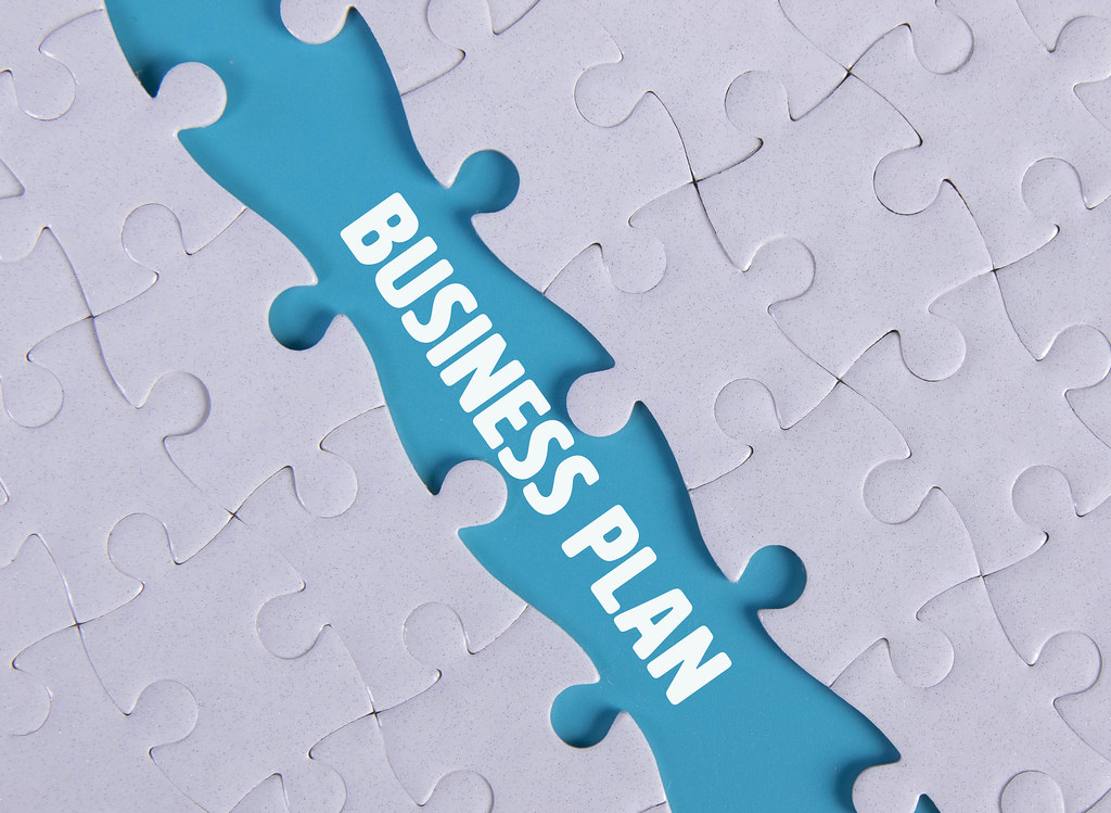 Missing puzzle piece with Business Plan text