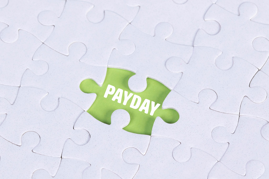 Missing puzzle piece with Payday text