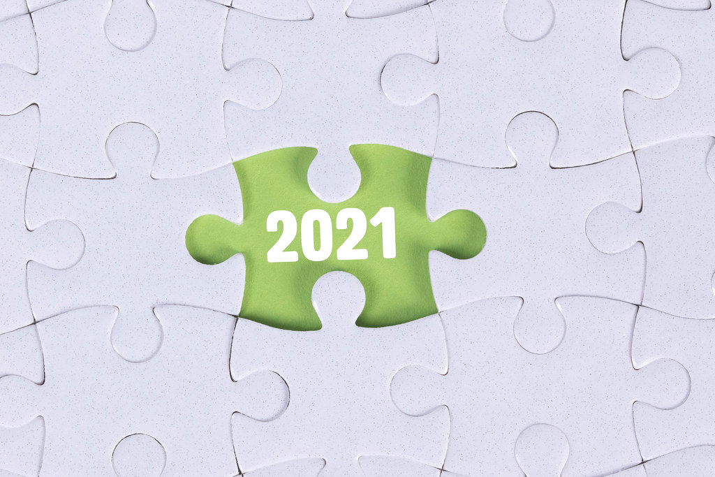 Missing puzzle piece and 2021 text