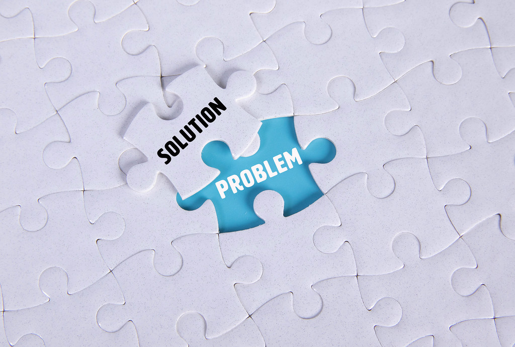 White puzzle with word Solution & Problem