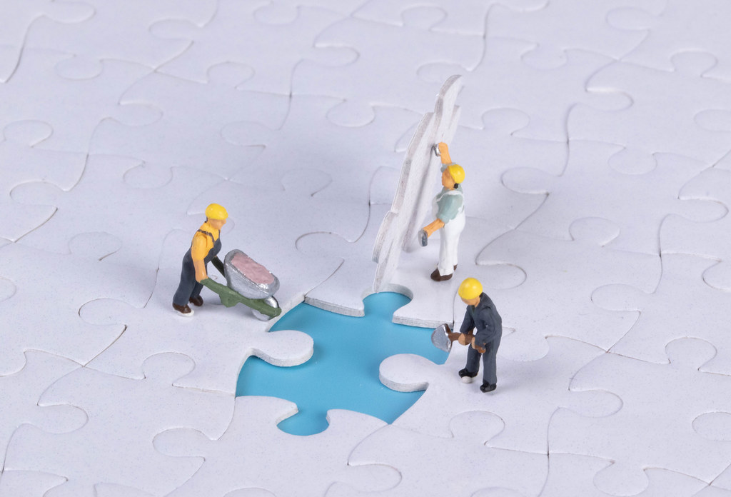 Teamwork, work as team for business success concept