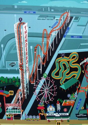 Coney Island - Luna Park Map