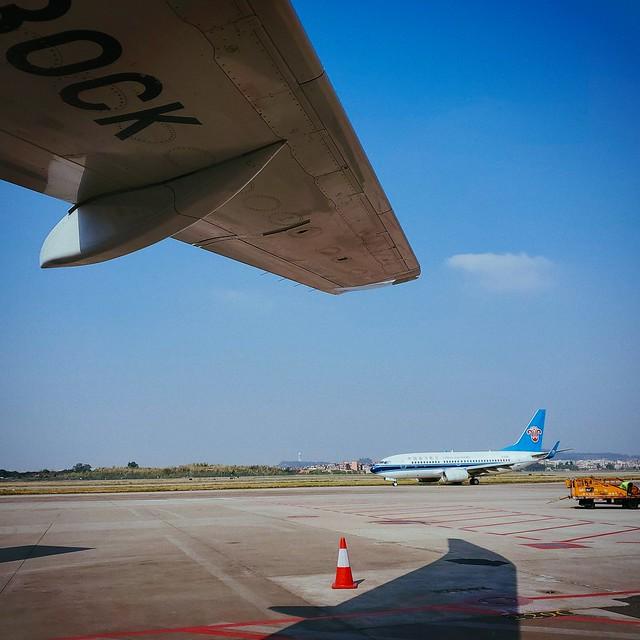 今天的飞机是CK的