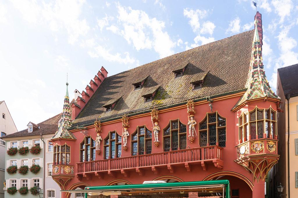 Beautiful historical Merchants' Hall in Freiburg, Germany
