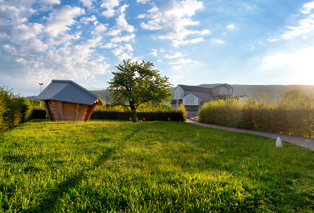 Dreamy morning during sunrise at oder architecture and design museum – Vitra