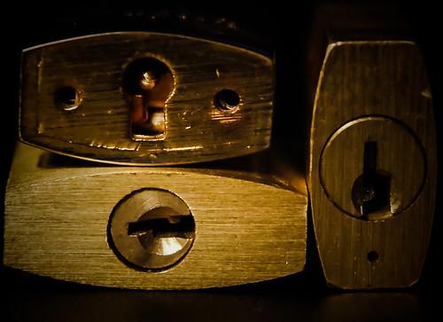 Briefcase padlocks