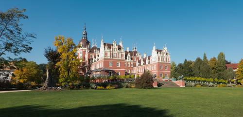 Muskau castle in autumn 2