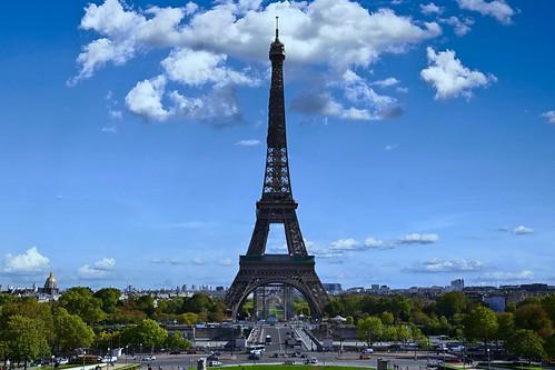 Eiffel tower from Trocadero / Paris