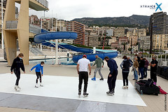 Synthetic ice surface in Monaco