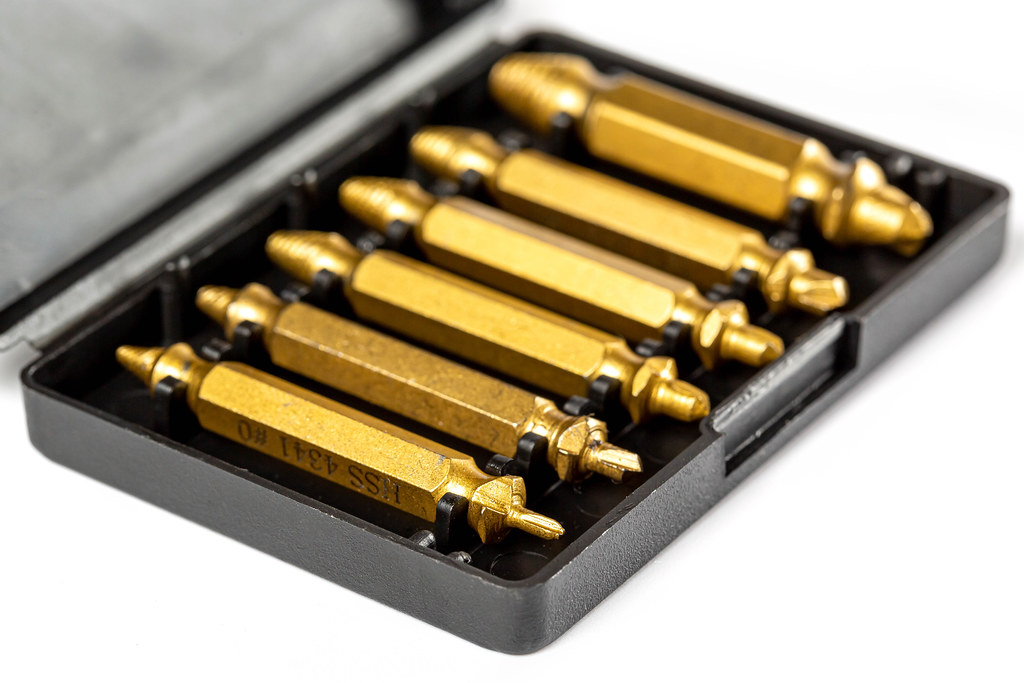 Drilling tools made of solid steel in box