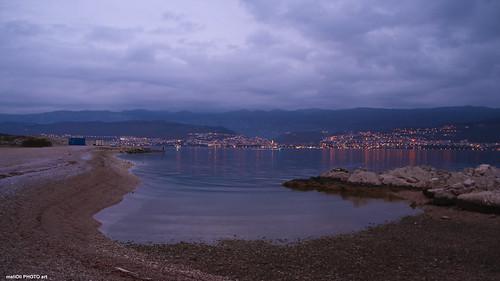 City lights on the far coast