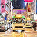 Rainy night at Mong Kok, Hong Kong