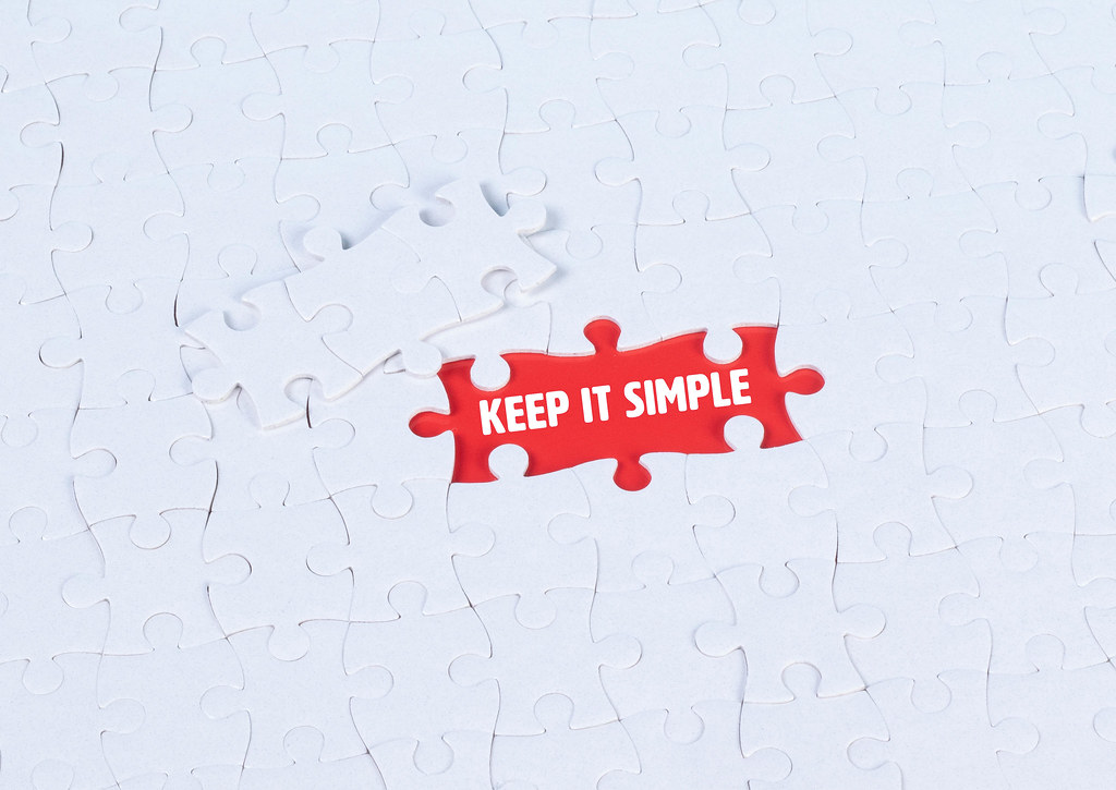 Missing puzzle pieces with a Keep it Simple text