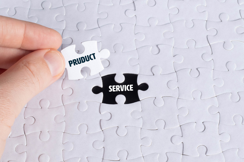 Missing puzzle piece and Product Service text