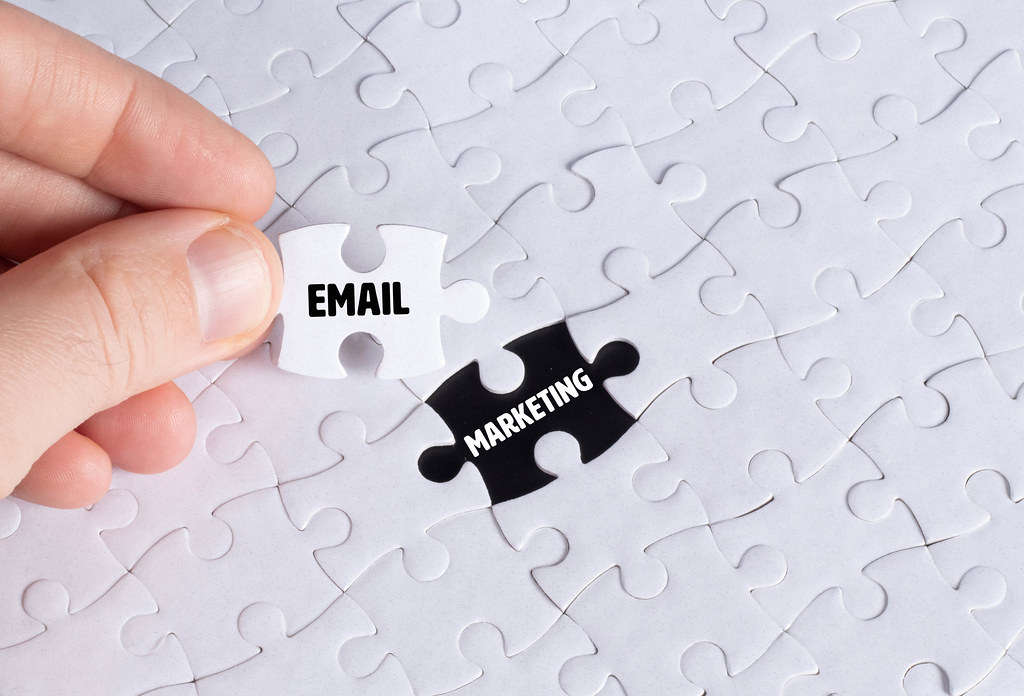 Missing puzzle piece with Email Marketing text