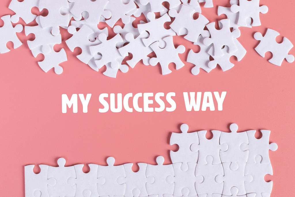 Puzzle pieces with My Success Way text