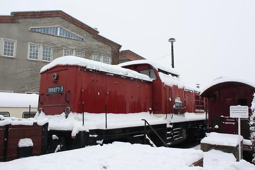 HSB: Diesellok 199 871-5 abgestellt in Wernigerode Westerntor