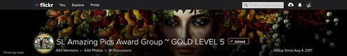 SL Amazing Pics Award Group ~ GOLD LEVEL 5