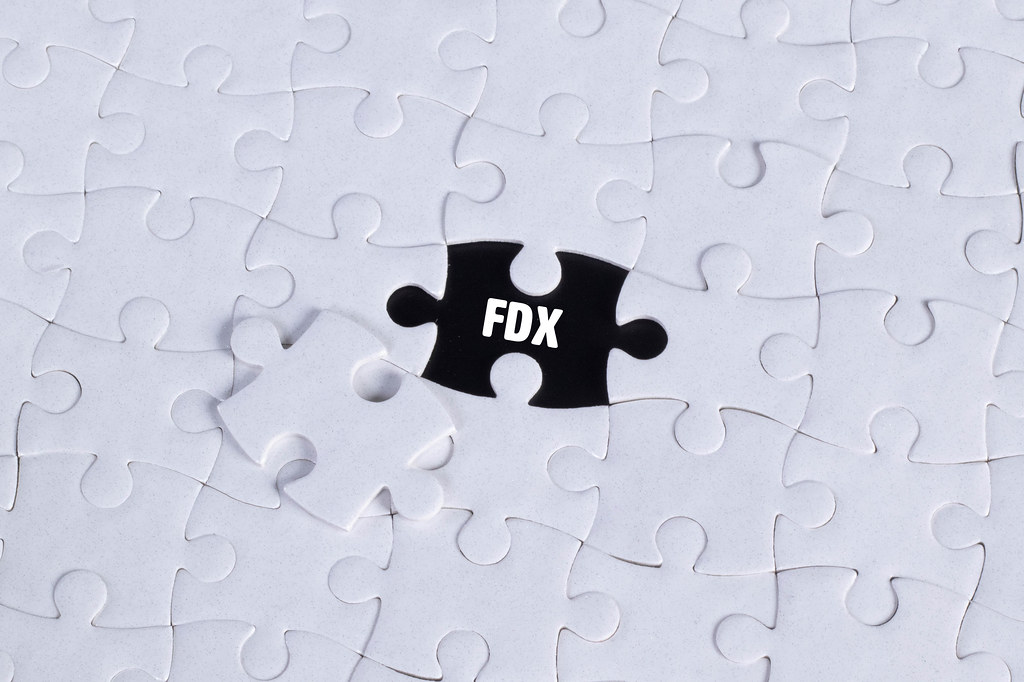 Missing puzzle piece with FDX text