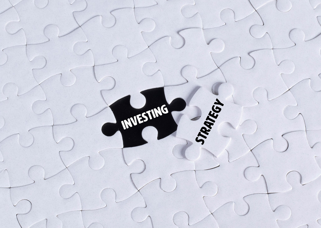 Missing puzzle piece with Investing Strategy text