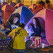 People camp overnight at Freedom Square in Taipei to protest NCC's stifling Press Freedom