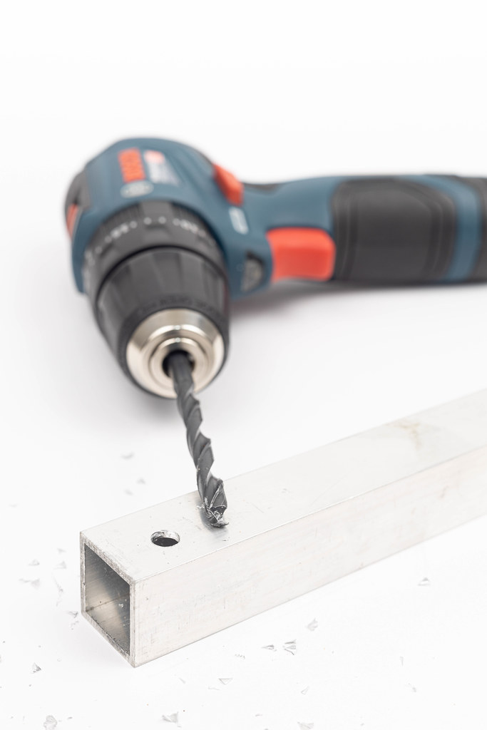 Battery Drill with Aluminum Bar with hole