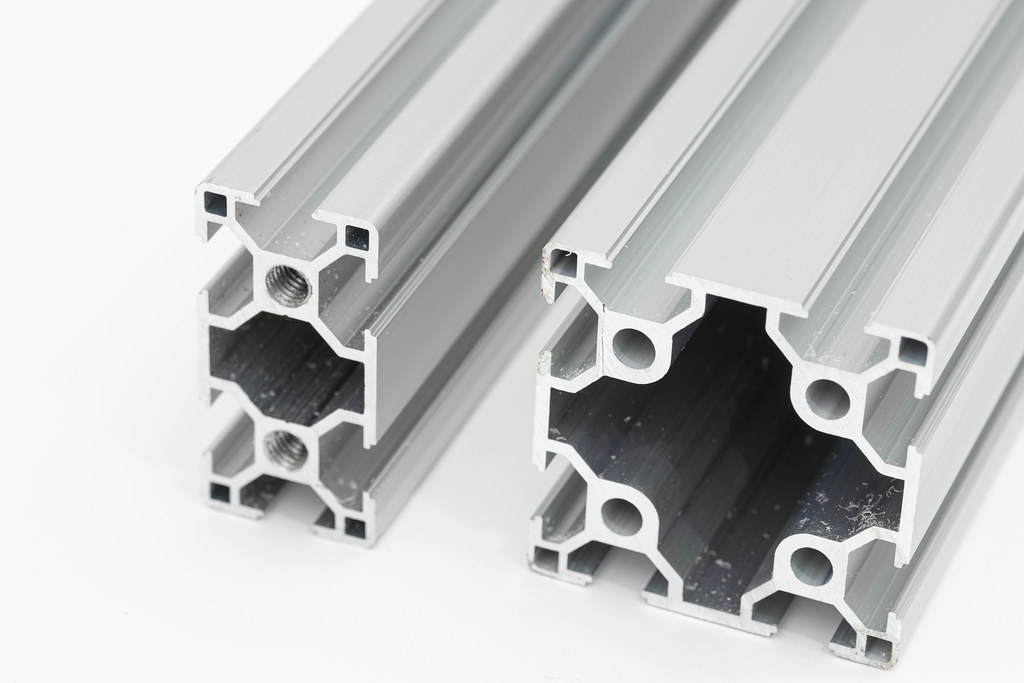 Industrial Aluminum Construction bar isolated above white background