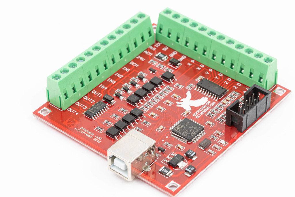 Mach 3 Motherboard for CNC router isolated above white background