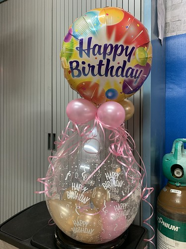 Kadoballon Verjaardag met Folieballon Bovenop
