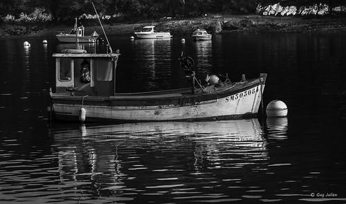 Petit bateau de pêche sur la Rance