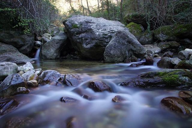 Il fiume Versilia nella discesa dal monte Altissimo - Alpi Apuane
