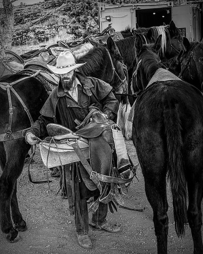 2020-11-0162-Cowboy in Red Rock Canyon-18-Black and White