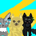 Jaykit, Hollykit, and Lionkit by Maplekit