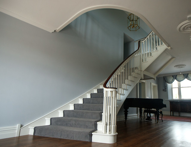 Flared Paint Grade Cut String Stairs