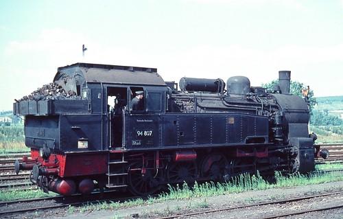 DR 94 807 (ex K.P.u.G.H.St.E. T 16.1 8114 Hannover; BMAG 1917) Bw Naumburg
