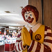 Bangkok, Thailand - November 29, 2019: McDonalds famous clown mascot Ronald McDonald gives the traditional Thai greeting - the Wai