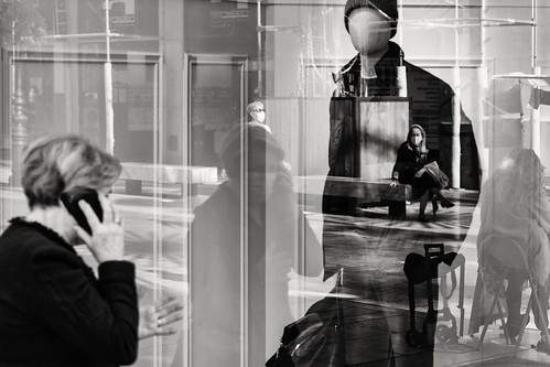 street life in reflection