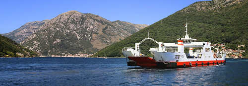 Ferry Kamenari-Lepetane in the Bay of Kotor