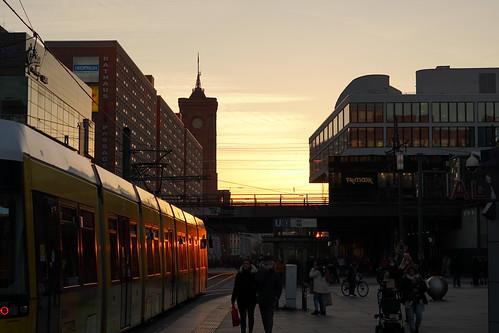 Alexanderplatz sunset