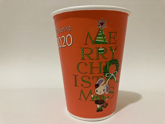 Photo:7-Eleven Taiwan CITY CAFE 愛 Sharing Xmas 波波 Popo orange By Majiscup Paper Cup 紙コップ美術館