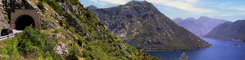 Montenegro's panoramic road overlooking the Bay of Kotor