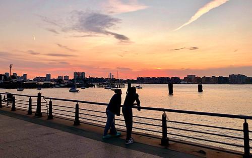October Sunset - Hudson River Park, New York City