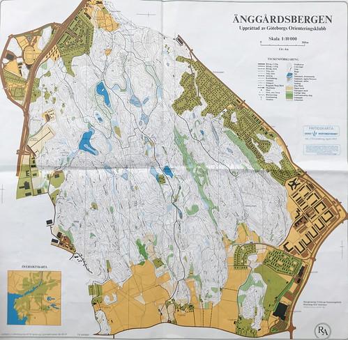 Göteborg 1990 Karte Änggardsbergen