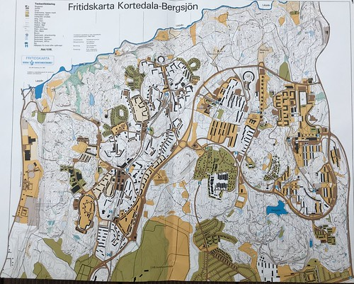Göteborg 1990 Karte Bergsjön